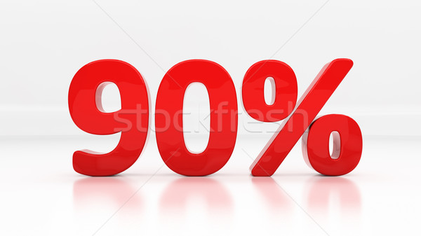 3D ninety percent Stock photo © Supertrooper