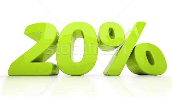 3D twenty percent Stock photo © Supertrooper