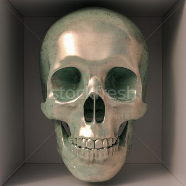 Metallic skull Stock photo © Supertrooper