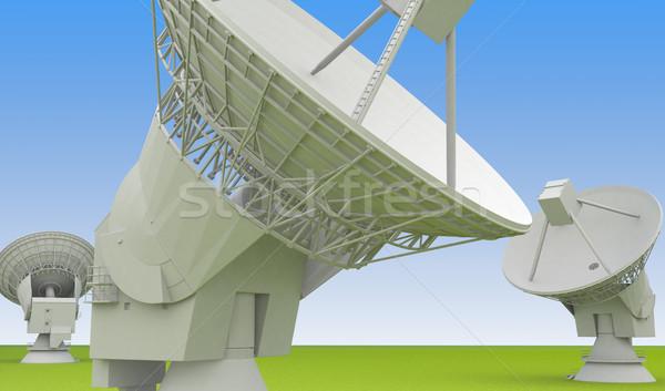 Nagy rádió antenna tömb arcok felfelé Stock fotó © Supertrooper