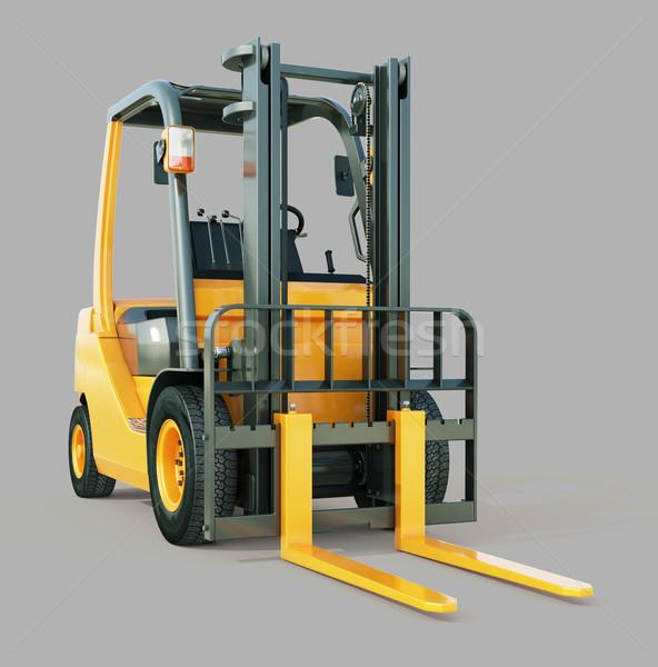 Heftruck vrachtwagen moderne grijs oranje kleur Stockfoto © Supertrooper