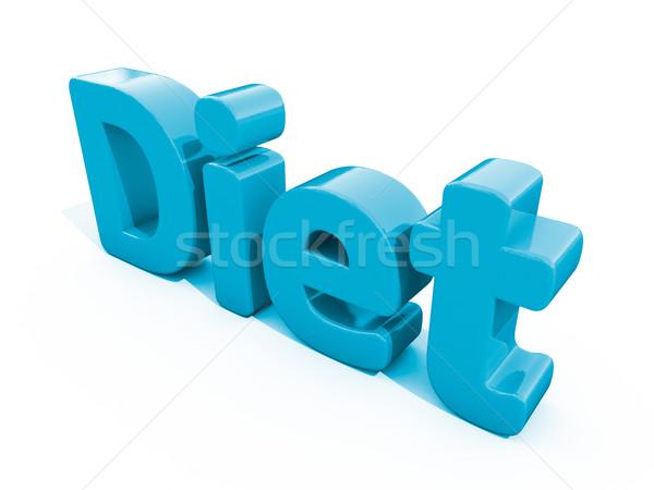 3D szó diéta ikon fehér 3d illusztráció Stock fotó © Supertrooper