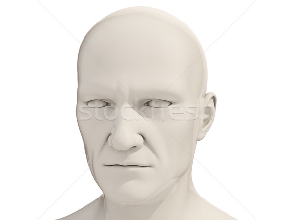 Human head isolated Stock photo © Supertrooper