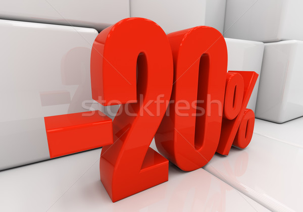 3D 20 percent Stock photo © Supertrooper