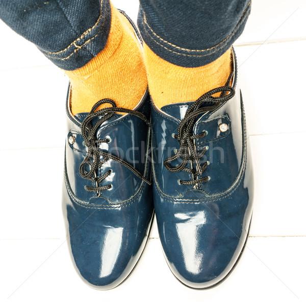 Сhild School Shoes Stock photo © Supertrooper