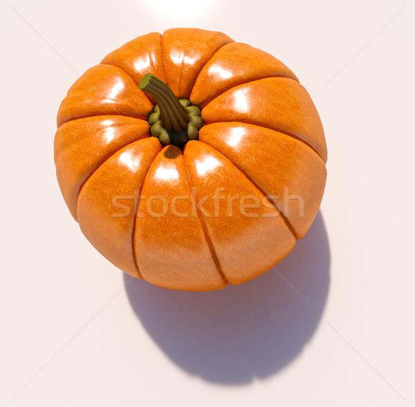 Biały całość świeże halloween pomarańczowy Zdjęcia stock © Supertrooper