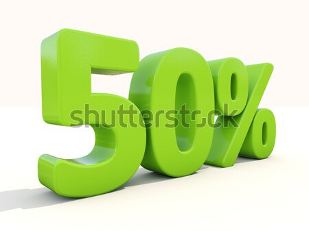 50% percentage rate icon on a white background Stock photo © Supertrooper