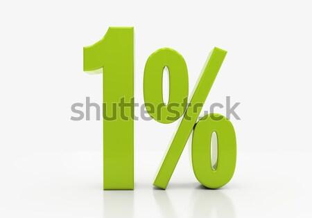 Percentage sign Stock photo © Supertrooper