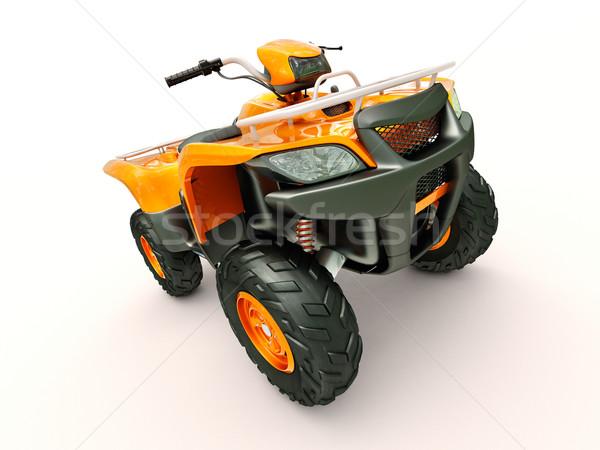 Fiets sport licht oranje lopen snelheid Stockfoto © Supertrooper
