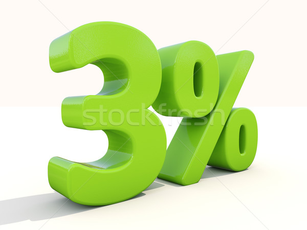 3% percentage rate icon on a white background Stock photo © Supertrooper