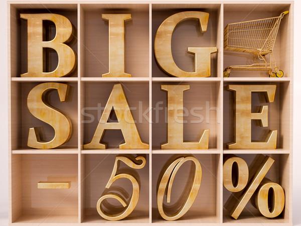 Big Sale text Stock photo © Supertrooper