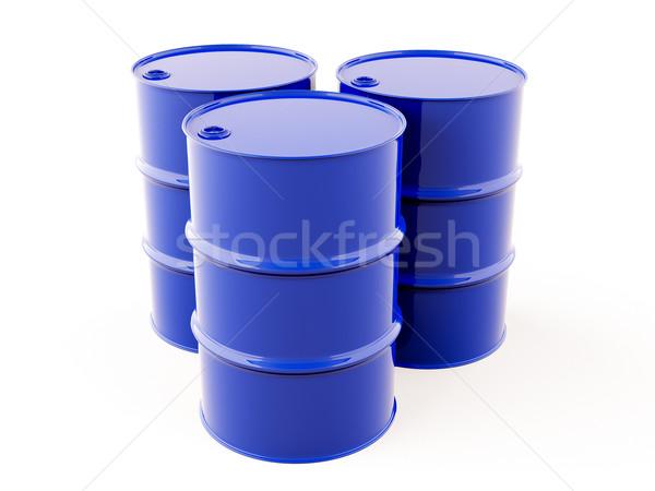 Azul metal barril luz negócio assinar Foto stock © Supertrooper