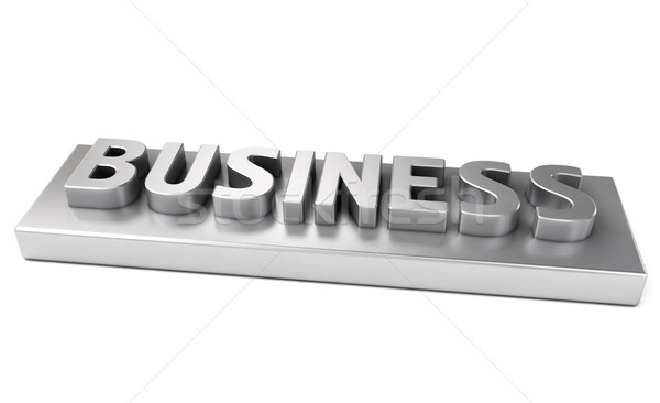 Business, metal letters Stock photo © Supertrooper