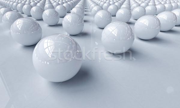 White balls Stock photo © Supertrooper