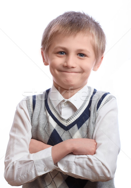 Boy on a white background Stock photo © Supertrooper