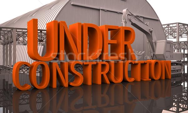 строительство реконструкция большой письма здании Сток-фото © Supertrooper