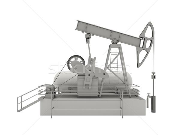 Isolato unità pistone pompare pozzo di petrolio Foto d'archivio © Supertrooper