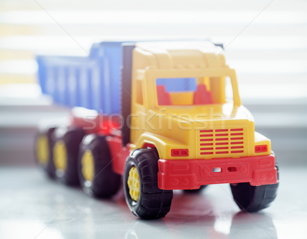 Toy Dump Truck Close up Stock photo © Supertrooper