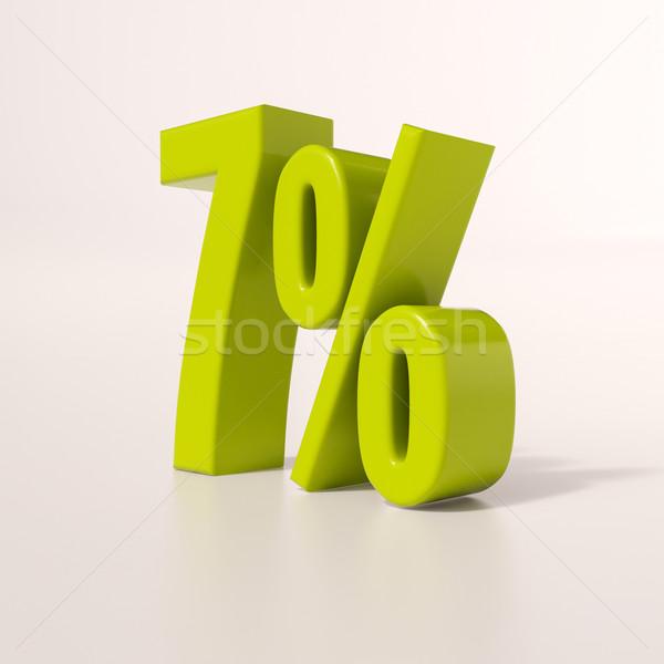 Percentage sign, 7 percent Stock photo © Supertrooper