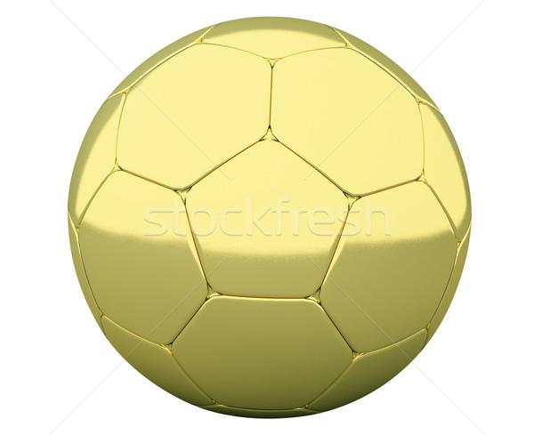 золото футбольным мячом изолированный белый спорт спортивных Сток-фото © Supertrooper