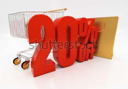 3D 20 процент скидка 3d иллюстрации Сток-фото © Supertrooper