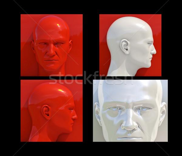 Pop Art Heads Stock photo © Supertrooper