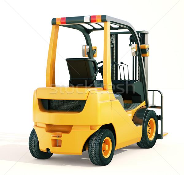 Heftruck vrachtwagen moderne licht oranje kleur Stockfoto © Supertrooper