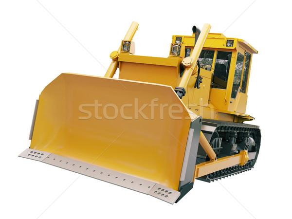 Zwaar bulldozer geïsoleerd witte bouw oranje Stockfoto © Supertrooper