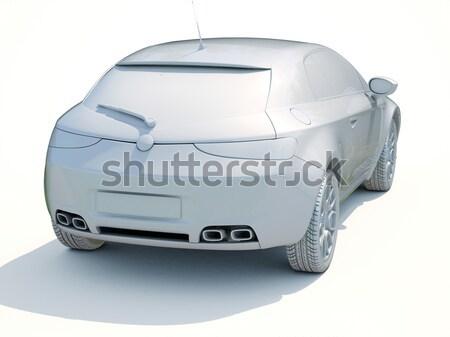 коммерческих ван современных серый исполнительного цвета Сток-фото © Supertrooper