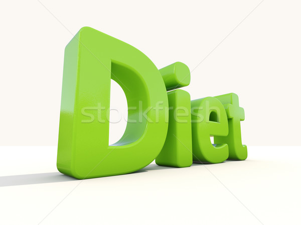 3d word diet Stock photo © Supertrooper
