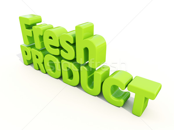 Stock photo: 3d Fresh Product