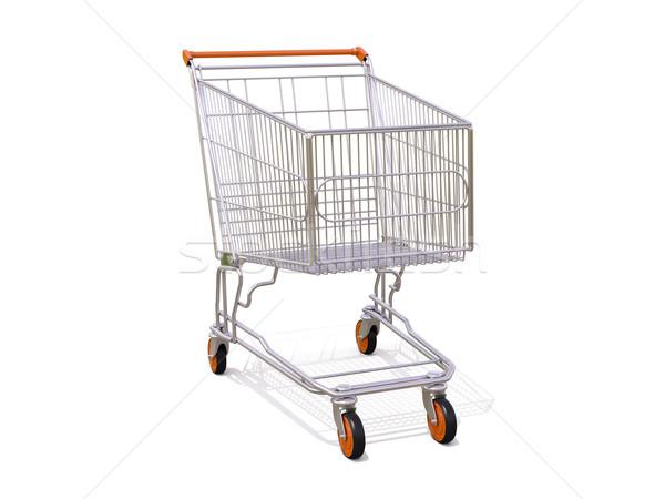 Carrinho de compras vazio isolado branco negócio marketing Foto stock © Supertrooper
