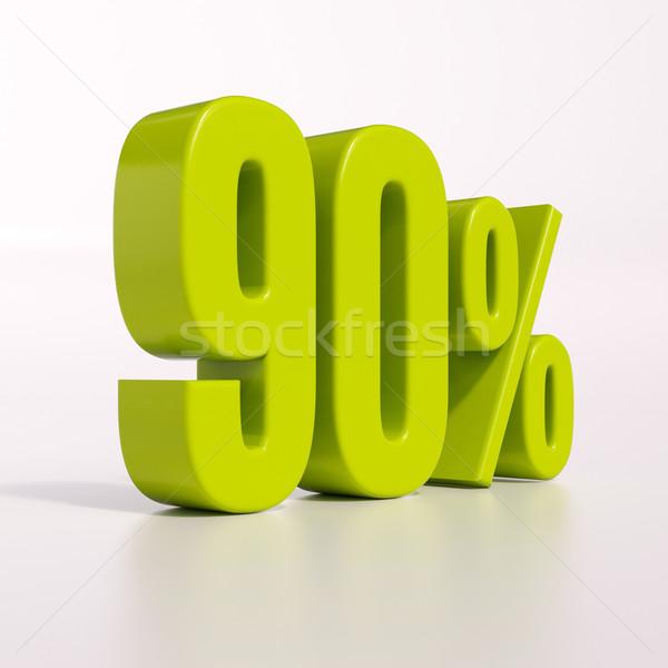 Pourcentage signe pour cent rendu 3d vert réduction Photo stock © Supertrooper
