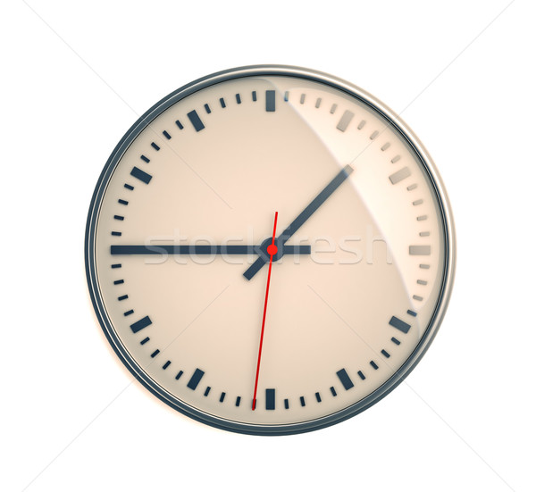 Clock on a light background Stock photo © Supertrooper