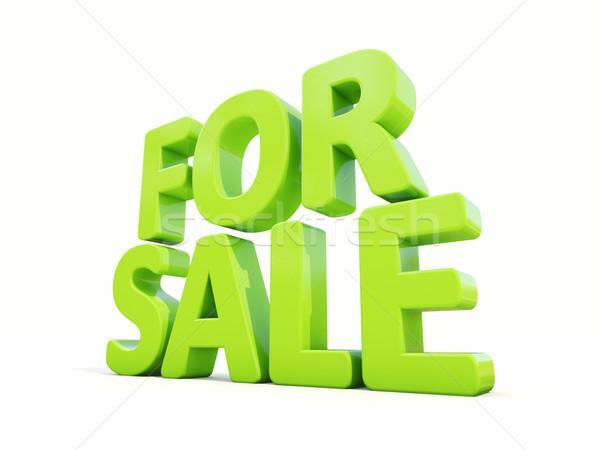 3D verkoop icon witte 3d illustration business Stockfoto © Supertrooper