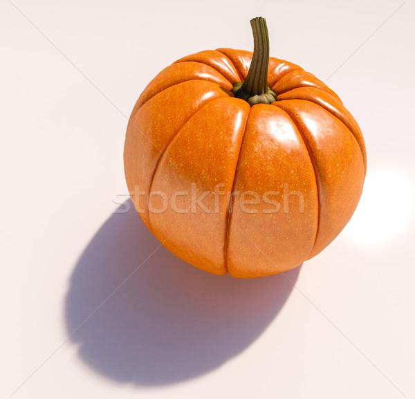 Halloween Pumpkin on White Stock photo © Supertrooper