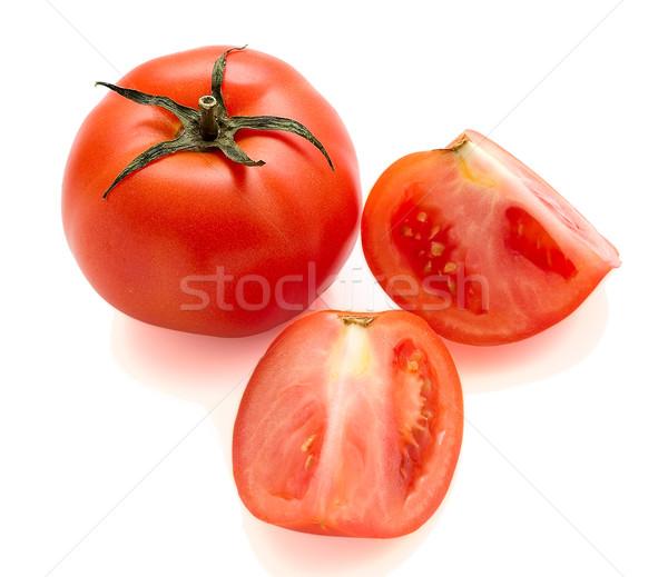 Tomates aislado todo corte cuidadosamente blanco Foto stock © Supertrooper