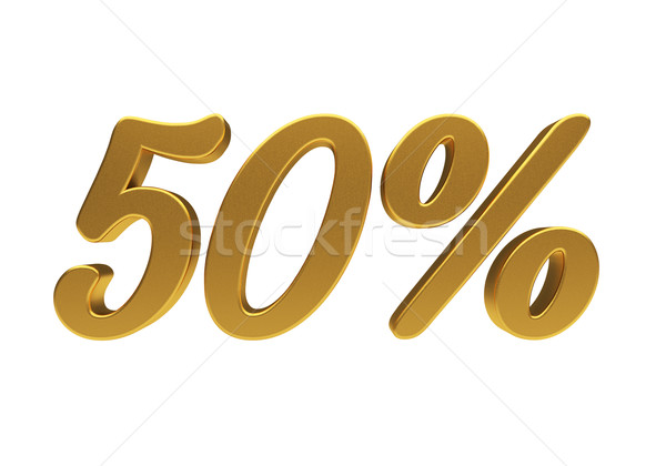 3D 50 percent isolated Stock photo © Supertrooper