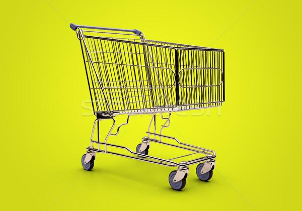 Carrinho de compras vazio carrinho de compras isolado compras Foto stock © Supertrooper