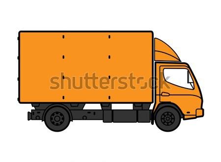 Camion di consegna giallo isolato bianco auto strada Foto d'archivio © Supertrooper