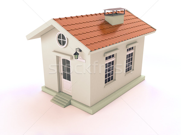 Simple casa blanca luz negocios edificio casa Foto stock © Supertrooper