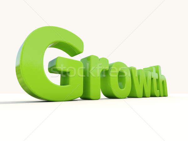 3d word growth Stock photo © Supertrooper