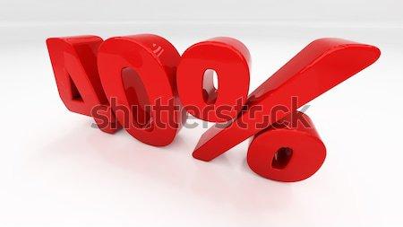 3D uno cento cento sconto Foto d'archivio © Supertrooper
