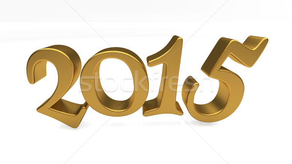 Gold 2015 lettering isolated Stock photo © Supertrooper