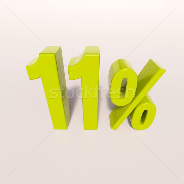Százalék felirat százalék 3d render zöld árengedmény Stock fotó © Supertrooper