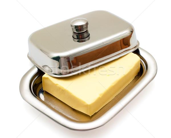 Manteiga prata prato isolado branco Foto stock © Supertrooper