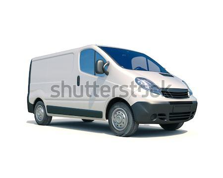 Szürke kereskedelmi kisteherautó fehér szállítás házhozszállítás Stock fotó © Supertrooper