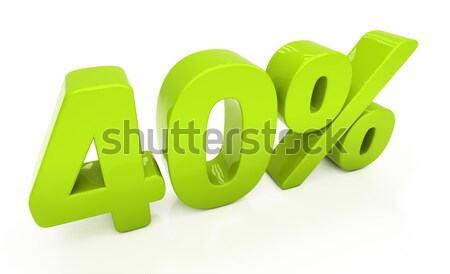 3D forty percent Stock photo © Supertrooper