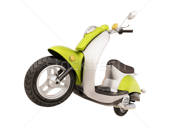 Classic scooter isolated Stock photo © Supertrooper
