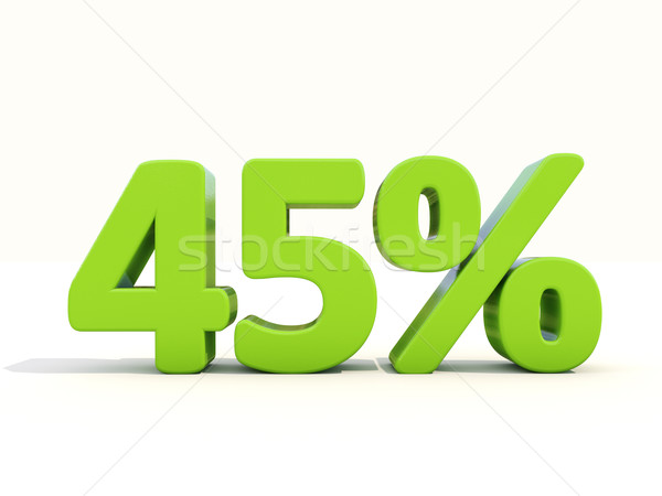 45% percentage rate icon on a white background Stock photo © Supertrooper